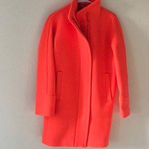 Nwot j.crew cocoon coat in neon orange